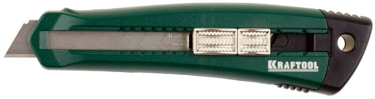 """Нож с сегментированным лезвием Solingen KRAFTOOL """"PRO"""" + 3 лезвия 18 мм 09195_z01 купить - цена, описание, фото, характеристики в интернет-магазине Инструментомания"""